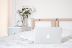 IMG_7693 (RL Mulholland) Tags: light white house home apple 50mm bed bedroom interior laptop pro f18 macbook