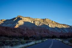 Morning Comes to Kodachrome Basin State Park (San Francisco Gal) Tags: road morning blue light sky mountain utah sandstone formation kodachromebasinstatepark redrockcountry
