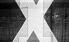 Xs (shudaizi) Tags: street nyc newyorkcity blackandwhite usa newyork reflection film sign lens places developer northamerica hp5 m6 genre xtol ei250 2013 leicasummicron35mmf20asph