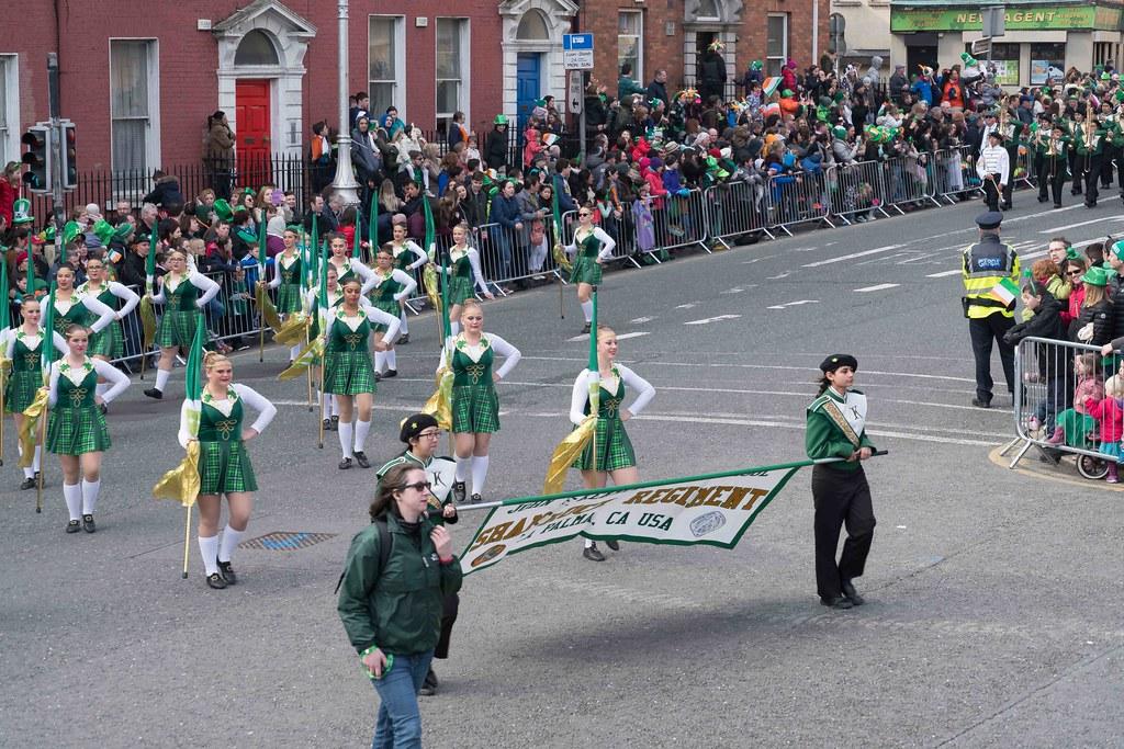 John F. Kennedy High School (Shamrock Regiment), California [St. Patrick's Parade 2016]-112641