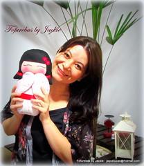 Eu e as kokeshis da Juju (Fofurebas - By Jackie) Tags: felt feltro oriental kokeshi decoraoinfantil bonecasjaponesas kokashi decoraoparabebs