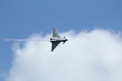 Typhoon (charliejb) Tags: sky clouds display aircraft jet airshow devon raf dawlish royalairforce 2013 dawlishairshow