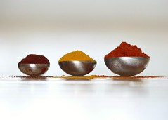 Spice It Up (nikagnew) Tags: macro silver three spice shape teaspoons semicircle measuringspoons