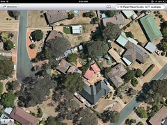 Google image of our old street in Scullin! (spelio) Tags: house home garden solar tank power front aerial canoe cells pv