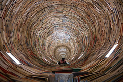 The Book Wormhole (McQuaide Photography) Tags: city light sculpture selfportrait vortex abstract building me zeiss mirror book europe czech prague pov unique interior library sony perspective wideangle tunnel indoor praha books illusion handheld czechrepublic inside wormhole fullframe alpha opticalillusion praag c1 selfie czechia centraleurope wideanglelens capitalcity 1635mm eskrepublika variotessar captureone mirrorless matejkren sonyzeiss mstskknihovnavpraze praguemunicipallibrary mcquaidephotography a7rii ilce7rm2 captureonepro9