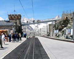The next train at platform ... (tucker.ralph) Tags: alps station train railway gornergrat zermatt