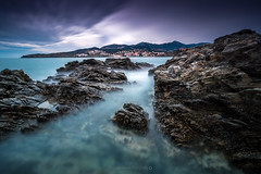 View on Banyuls @Pyrnes-Orientales (Benjamin MOUROT) Tags: longexposure seascape france nature rock french landscape view pov paysage lente francia rochers languedocroussillon filtre banyuls pyrnesorientales poselongue nd1000 leefilter nd110 retardateur photoshopcs3 1018mm faguo bigstopper canon70d benjaminmourot lightroom5 capdecastell