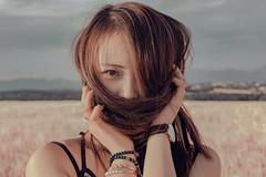 Yang. Y (Hom'J) Tags: portrait people woman colour film girl beautiful hair 50mm model eyes photoshoot outdoor sony longhair cutegirl asiangirl bestportraitsaoi sonya6000