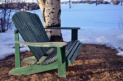 Pinedale Beauty (TMLizzy Irwin) Tags: bench lakeside wyoming snowcovered pinedale fremontlake pinedalewy march2016