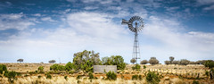 Wilcannia Mill (Bill Thoo) Tags: windmill rural landscape farm sony country australia nsw outback redearth panaroma farwest wilcannia a900 sheepstation