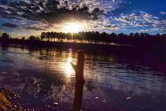 A sunset on the river (Carlo Cabrini) Tags: wood sunset panorama river reflex nikon tramonto fiume colori hdr luce legno riflesso preferiti bastone saturazione