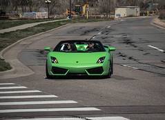 Spyder (Hunter J. G. Frim Photography) Tags: verde green colorado convertible spyder lamborghini supercar gallardo lamborghinigallardo lamborghinigallardospyder lp5604 lamborghinigallardospyderlp5604