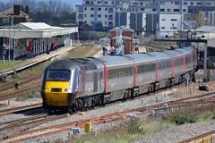 43285 & 43301, Taunton 26/04/2016 (CF Rail Photography) Tags: train edinburgh diesel plymouth railway crosscountry locomotive passenger intercity taunton hst highspeedtrain 40steps class43 43301 43285 crosscountrytrains 1v50 26042016
