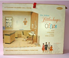 Not Mine- Dr. John Littlechap Office (Foxy Belle) Tags: house vintage john office dr structure medical cardboard doctor 1960s remco littlechap