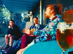 (Highburnate) Tags: blue red canada color colour beer floral digital lumix hoodie spring hand lads beers chillin dude deer panasonic patio nathalie alberta porch adidas dudes chills 2016 gx8 mirrorless weiswasser dmcgx8