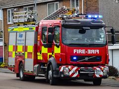 NK62EGJ (firepicx) Tags: uk blue rescue fire lights engine pump northumberland service british emergency nk62egj