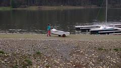 """Der """"neue"""" Schieder See 2016_04_15 (DeeDee Pix) Tags: lake water girl sailboat river boot see boat stream wasser ship artificial reservoir damm fluss schiff mdchen segelboot emmer stausee 2016 jolle deedeepix schieder umflut"""