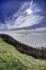 Disappearing (pauldunn52) Tags: sea mist heritage wales bristol temple bay coast glamorgan sunburst channel