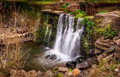 Peaceful (Ed Blazejewski) Tags: morning miniature waterfall spring bokeh shift tilt buckscounty delawarecanal