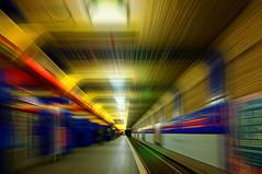 Schlostrae (Ralf Westhues) Tags: berlin rot underground bahnhof gelb ubahn blau schlosstrase