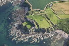 Tantallon Castle, East Lothian 2015 (RCAHMS) Tags: castle landscape scotland unitedkingdom aerial hes tantalloncastle eastlothian aerialphotograph 2015 rcahms historicenvironmentscotland dp218184