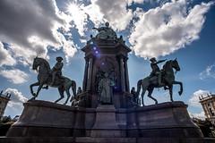 Wien-Reiterstatue-Maria-Theresia (Ralph Punkenhofer) Tags: vienna wien blue sky statue clouds nikon maria himmel wolken d750 20mm nikkor theresia f4 heiter