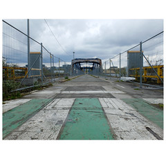 The long crossing (michelle@c) Tags: road bridge urban seine architecture 1931 island industrial decay steel structure renault former worksite seguin connection manufacture meudon seibert michellecourteau
