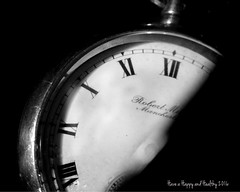 Goodbye To Another Year (dawn_macroart) Tags: black monochrome mystery vintage shadows time background romannumerals happynewyear pocketwatch robertmilnemanchester