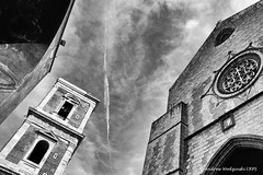 Into the Sky - Piazza del Gesu Nuovo (Andrzej Wodzinski) Tags: sky blackandwhite bw italy white black clouds canon square photography eos photo europa europe monochromatic andrew napoli naples piazza fotografia czarny lrps gesu andrzej nuovo plac chmury niebo włochy biały neapol 70d wodzinski czarnobiały canoneos70d andrewwodzinski salonpolski andrzejwodzinski andrzejwodzinskilrps piazzdelgesunuovo