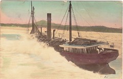 "SS ""Rosedale"" aground at Urunga, NSW - 14 March 1909 (Aussie~mobs) Tags: ocean australia shipwreck newsouthwales aground steamer rosedale 1909 urunga"