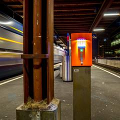 Give me your ticket - night version (jaeschol) Tags: switzerland railway sbb zrich kreis5 hardbruecke