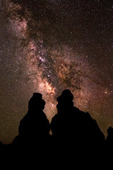 Among the Hoodoo's (reflectioninapool) Tags: longexposure sky color nature silhouette rock vertical stone night dark stars landscape outdoors utah us rocks shadows unitedstates nobody formation astrophotography bryce astronomy brycecanyon rectangle milkyway geological hoodooos