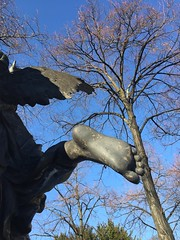Stairway to Heaven...Bartholdi Genius...Delphi,Mount Parnassus  the inventor of the art of foretelling the future from the flight of birds, and to have given his name to Mount Parnassus...THRIAE (Thriai), the name of three prophetic nymphs (bernawy hugues kossi huo) Tags: sculpture feet cemetery angel fly wings heaven crossing guitar song stairway mount fender genius underworld montparnasse ledzeppelin alchemy stairwaytoheaven parnassus telecaster lyric alchemist bartholdi robertplant triades παρνασσοσ thriae