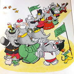 Babar the King. (Kultur*) Tags: elephant children book 1930s illustrated drawings books babar childrensbooks firstedition babartheelephant babartheking brunhoff 1930sbook