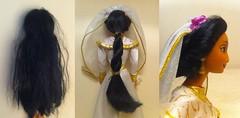 OOAK_Bride_Jasmine_Before/After (Disney_&_Collection) Tags: classic store doll princess jasmine jafar barbie disney collection 1992 arabian aladdin mattel