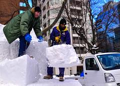 160131-N-OK605-042 (U.S. Pacific Fleet) Tags: chainsaw snowsculpture sapporosnowfestival navalairfacilitymisawa surfacewarfarepin