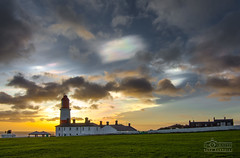 Rainbow Clouds at Souter Lighthouse (solidtext) Tags: lighthouse sunrise nacreous souter stratopheric