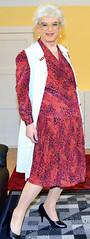 Ingrid021298 (ingrid_bach61) Tags: dress skirt mature pleated kleid kittel nylonoverall faltenrock