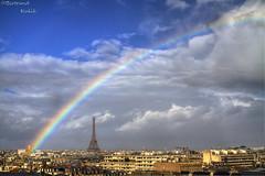 Couleurs parenthse (bertrand kulik) Tags: cloud paris france rainbow eiffeltower nuage bertrandkulik