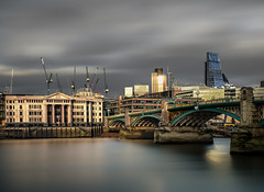 The Vinters Company and Southwark bridge in triple time