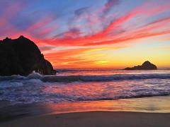 Pfeiffer Beach, Big Sir (JuliaSF1) Tags: sunset beach pfeifferbeach iphone bigsir