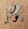 Tattoo Design (Naomi Walker Art) Tags: blackandwhite black bird art tattoo illustration ink sketch eagle drawing fineart lion line winged mythology gryphon myth blackwork griffon tattoodesign linework wingedlion ziz sumerian simurgh naomiwalker naomiwalkerart naomicantor naomicantorart