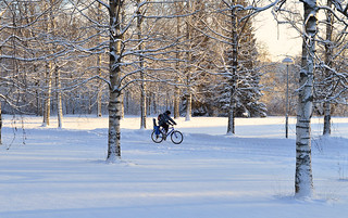 -26°C but this is not a problem for cyclists in #Finland :-) #Winter