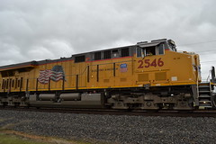 UP2546 (huntingtherare) Tags: train graffiti freight rollingstock benching