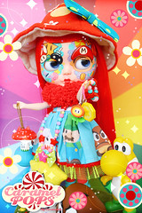 Miss Mario ( Caramelaw ) Tags: mushroom rainbow doll dolls candy sweet brothers cut ooak dal super mario approved pullip blythe custom yoshi caramelpops caramelaw