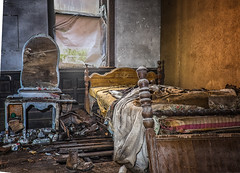 Jo Ann Bolton 1 (JoJoClick) Tags: house abandoned window mirror bed destruction beercans