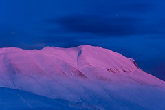 Wonder Castelluccio Stage VI (luca_pictures) Tags: travel winter sky snow cold ice nature colors beauty clouds outdoor neve bluehour inverno freddo viaggio nightfall bellezza tranquillity sibillini vettore tranquillit tramontosunset parconazionaledeimontisibillini