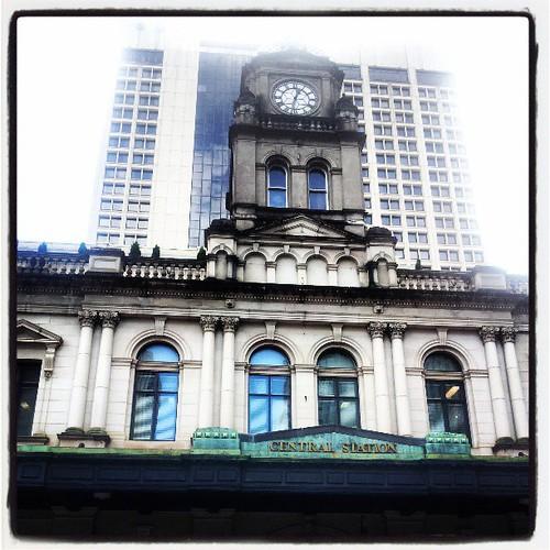 Brisbane central station entrance..