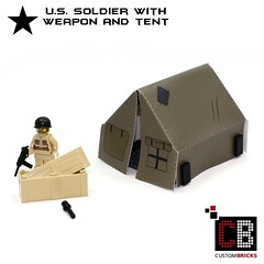 Lego CB Custom Zelt Minifigur US WW2 WWII Brickarms 01 (LA-Design2012) Tags: army us force lego wwii tent special german ww2 afrika minifig custom zelt sandbags deutsche bundeswehr moc wehrmacht sandsäcke afrikakorps soldate custombricks