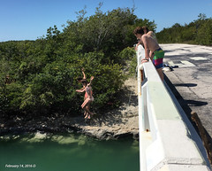 Jumping Off Of The Tallahassee Bridge (Denzil D) Tags: bridge photo florida bikini floridakeys bathingsuits younggirls jumperscanalsatlantic oceanwateriphone